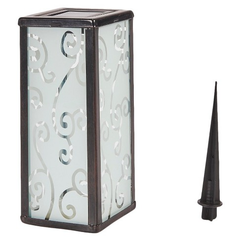 "Smart Solar 11"" Scroll Square LED Outdoor Lantern - image 1 of 3"