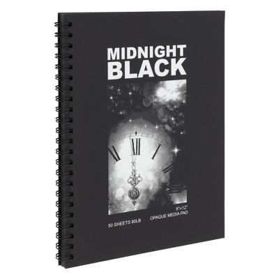 "Creative Mark Midnight Black 9x12"" in Opaque Media Pad (50 Sheets) Creative Mark, Black"