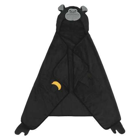 Gorilla Hooded Bath Towel - Black - Pillowfort™ - image 1 of 1