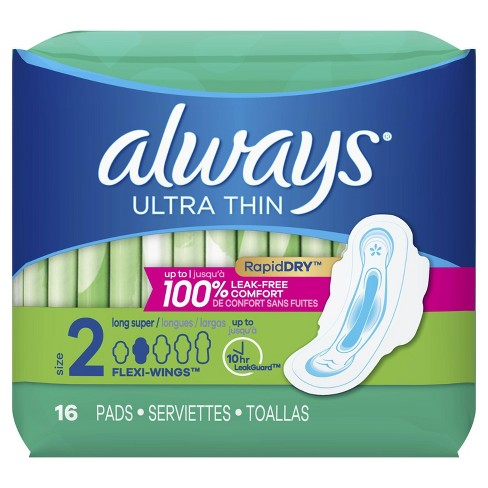 Always Ultra Thin Long Super Pads - Size 2 - image 1 of 4
