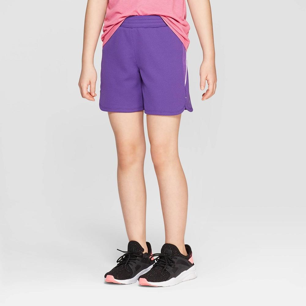 e4453d1e0b04f1 Girls 5 Gym Shorts C9 Champion Plum Purple L