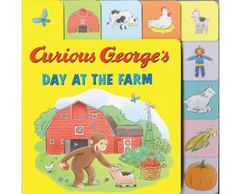 Curious George's Day at the Farm (Hardcover) (Hena Khan) - image 1 of 1