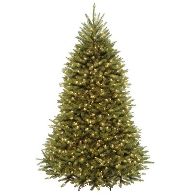 7.5ft National Tree Company Dunhill Fir Hinged Full LED Artificial Tree with 700 Low Voltage Dual Led Lights with 9 Function Footswitch