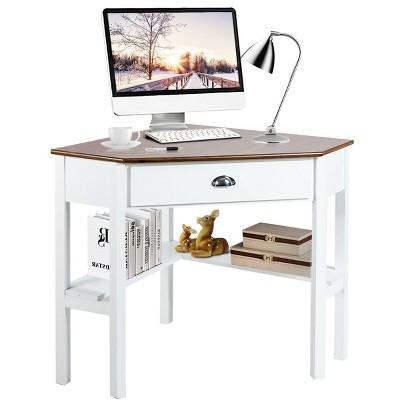 Costway Corner Computer Desk Laptop Writing Table Wood Workstation Home Office Furniture