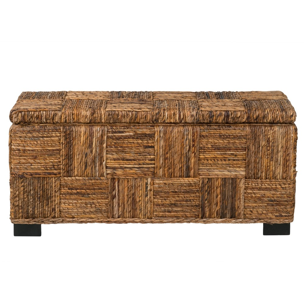 Mulberry Abaca Storage Benches - Brown - East At Main