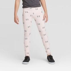 Girls' Panda Leggings - Cat & Jack™ Powder Pink