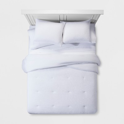 White Micro Texture Comforter Set (Full/Queen)- Project 62™ + Nate Berkus™