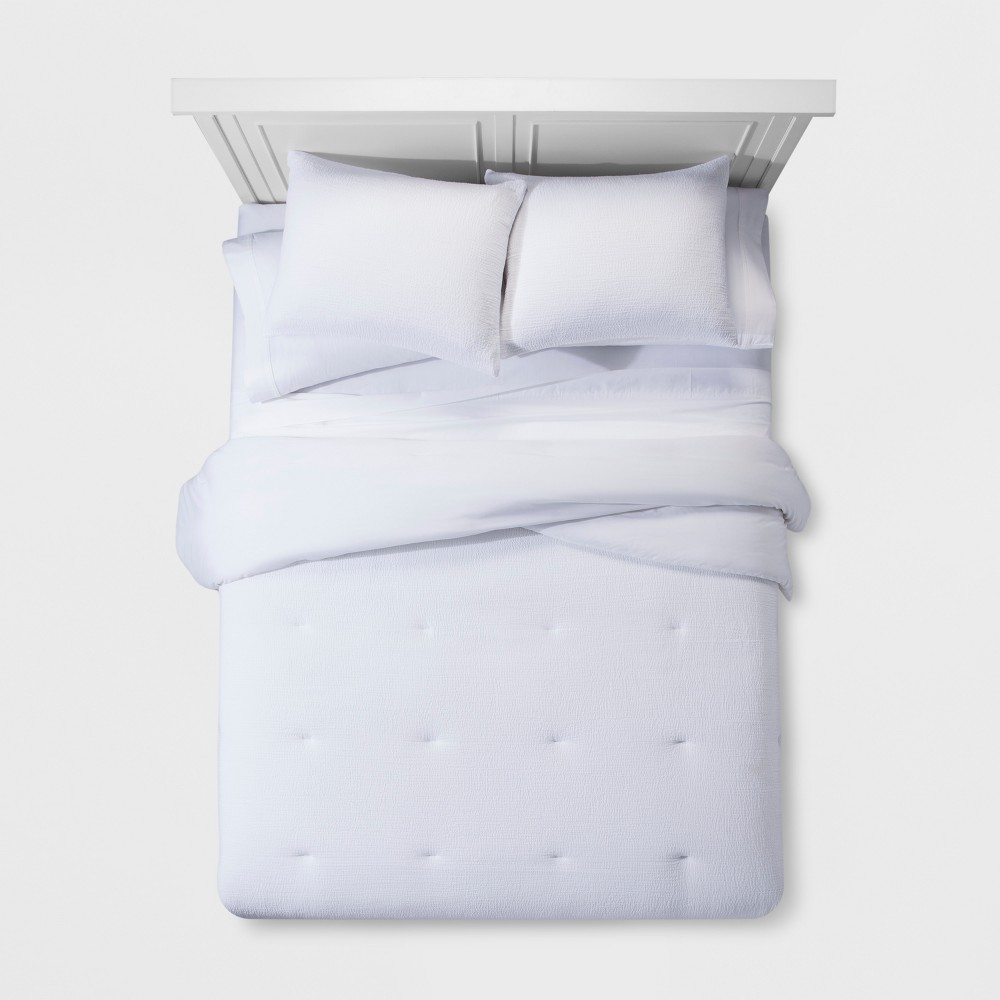 White Micro Texture Comforter Set (King) - Project 62 + Nate Berkus