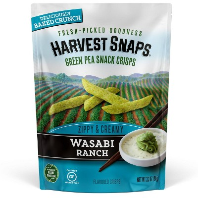 Harvest Snaps Green Pea Snack Crisps Wasabi Ranch - 3.3oz