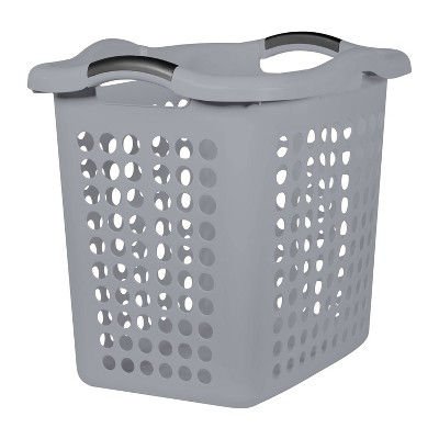 2 Bushel Hamper With Divider Gray - Room Essentials™