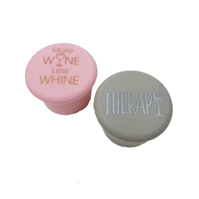 CapaBunga 2pk Leakproof Wine Cap - Therapy/More Wine Less Whine