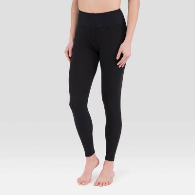 Wander by Hottotties Women's Lightweight Ribbed Thermal Leggings - Black