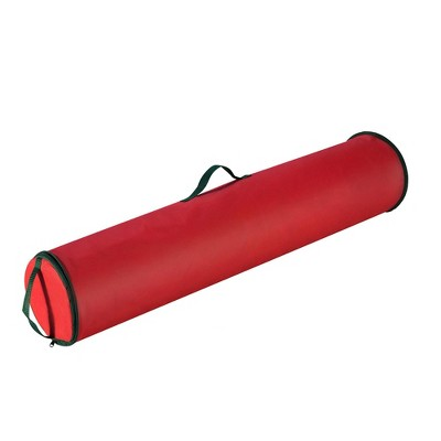 """Elf Stor 40.5"""" Christmas Gift Wrapping Paper Wrap Storage Bag Red Stand Up"""