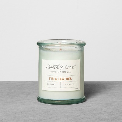 4oz Container Candle Fir & Leather - Hearth & Hand™ with Magnolia