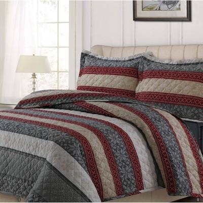 Alpine Knit 3pc Oversized Quilt Set - Tribeca Living