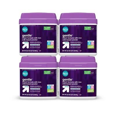 Gentle Infant Formula with Iron Milk-Based Powder - 33.2oz/4pk Each - up & up™