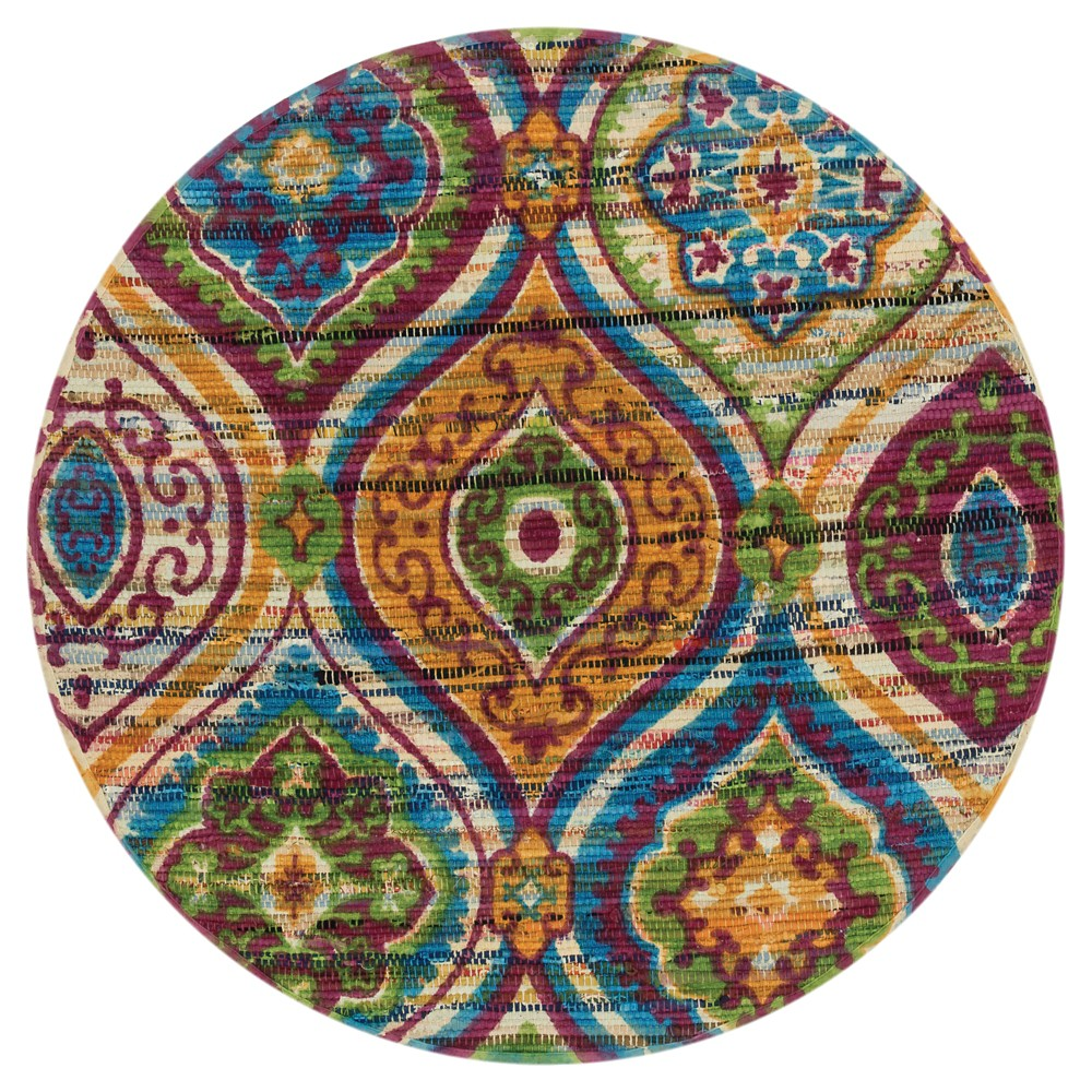 Loloi Aria Accent Rug (3' Round), Multi-Colored