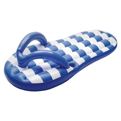 ebb1c5205ea Marine Blue Flip Flop 71-in Inflatable Pool Float   Target