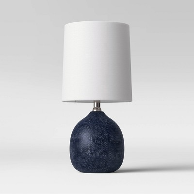 Textured Ceramic Mini Accent Lamp Navy (Includes Energy Efficient Light Bulb)- Threshold™