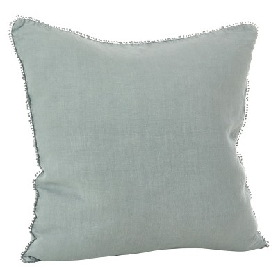 Grey Pompom Design Throw Pillow (20 )- Saro Lifestyle®