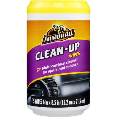 Armor All 15ct Clean Up Wipes Automotive Interior Cleaner