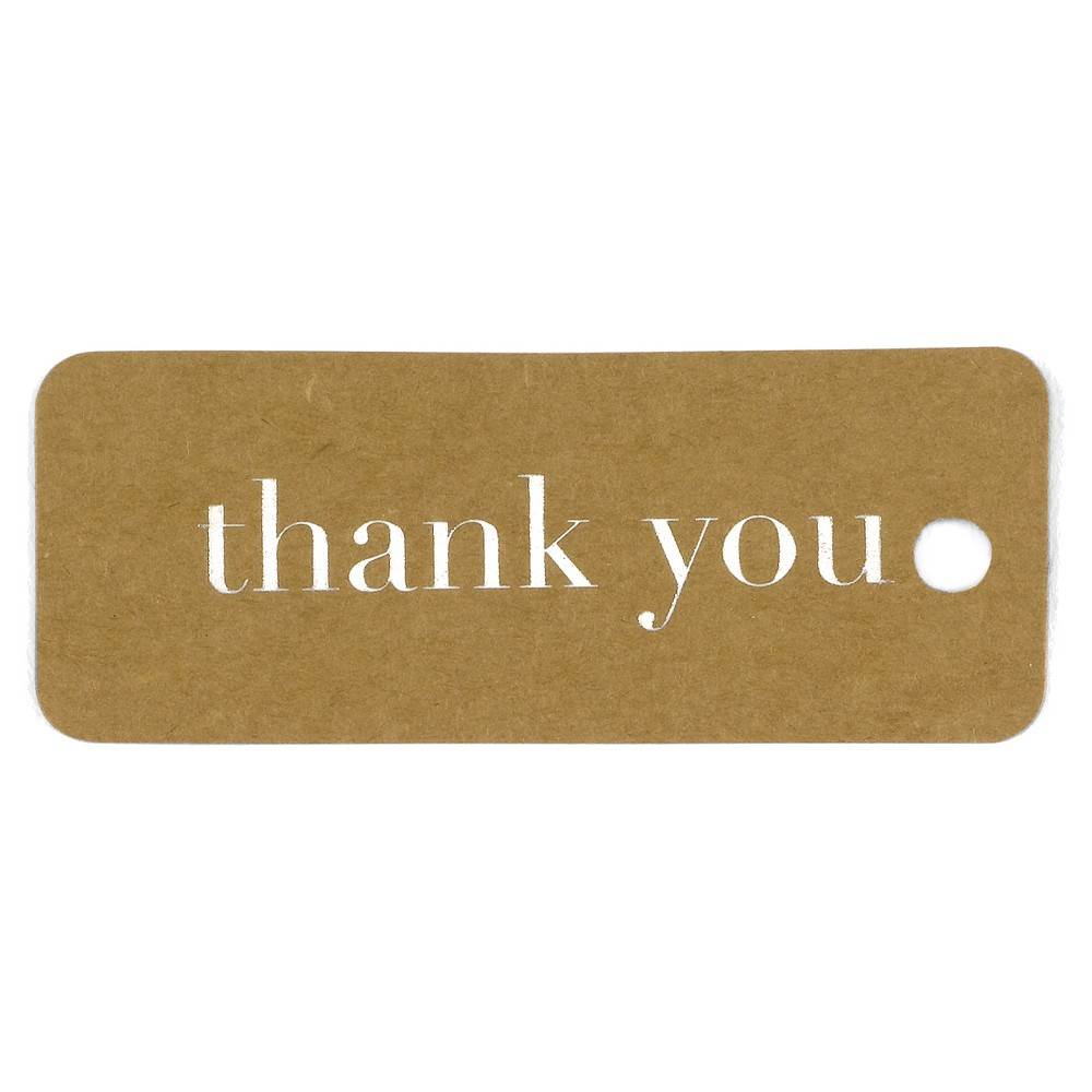 Image of 25ct Kraft Favor Tags Silver