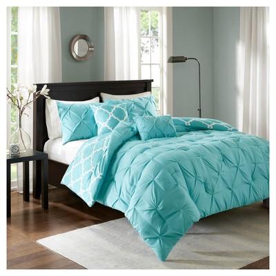 Aqua Hayden Solid Reversible Comforter Set (King/California King)5pc