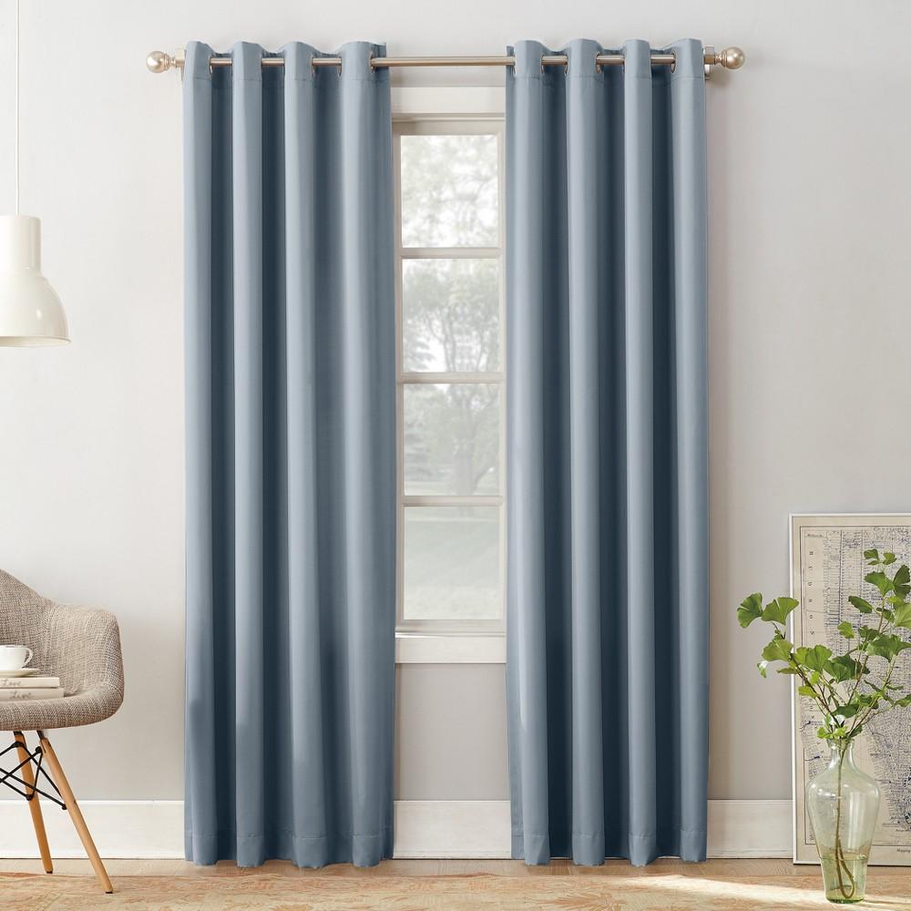 Seymour Room Darkening Grommet Curtain Panel Vintage Blue 54