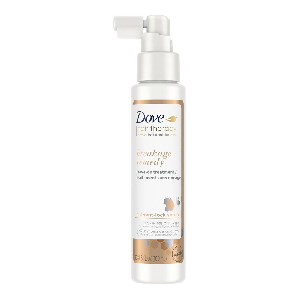 Dove Beauty Hair Therapy Breakage Remedy With Nutrient Lock Serum Leave On Treatment 3 38 Fl Oz