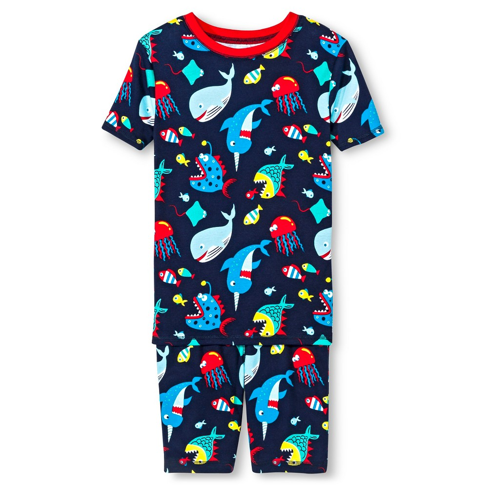 Boys' 2pc Fish Pajama Set - Circo Navy 10, Navy Voyage