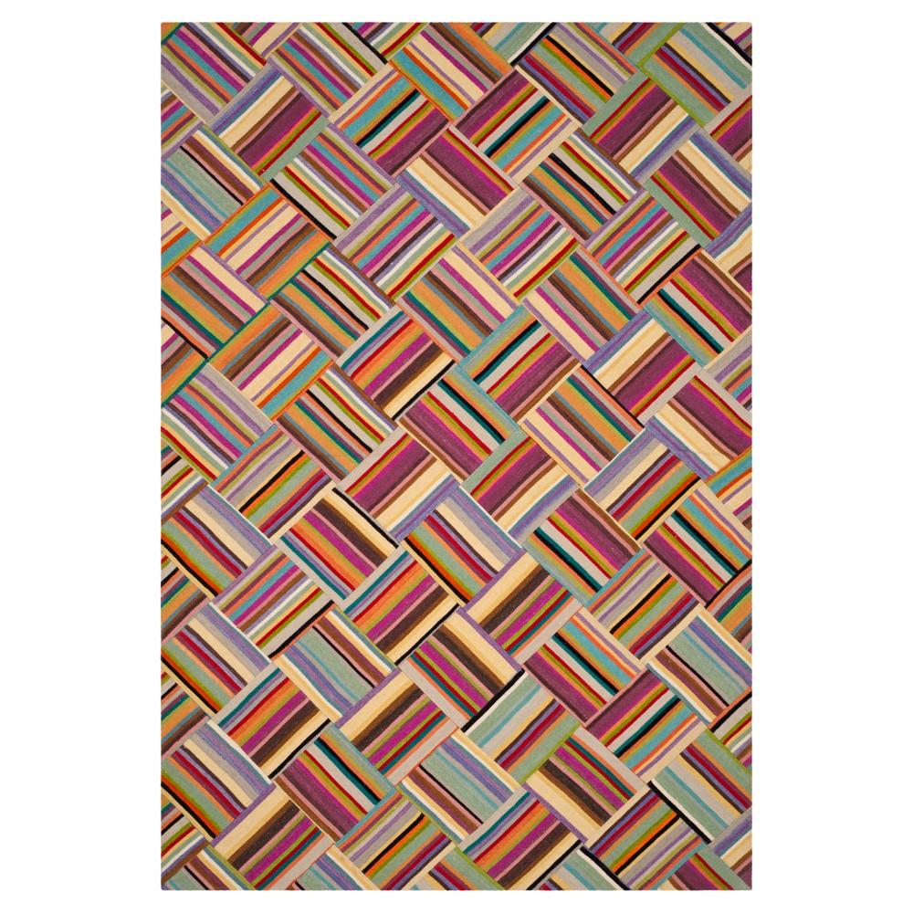 Pink/Multi Abstract Woven Area Rug - (6'x9') - Safavieh