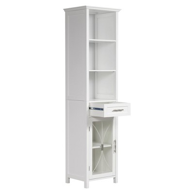 Symphony Linen Cabinet White - Elegant Home Fashions