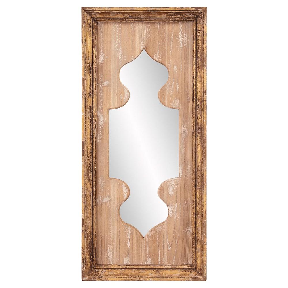 Rectangle Aladdin Decorative Wall Mirror Antique Wood - Howard Elliott