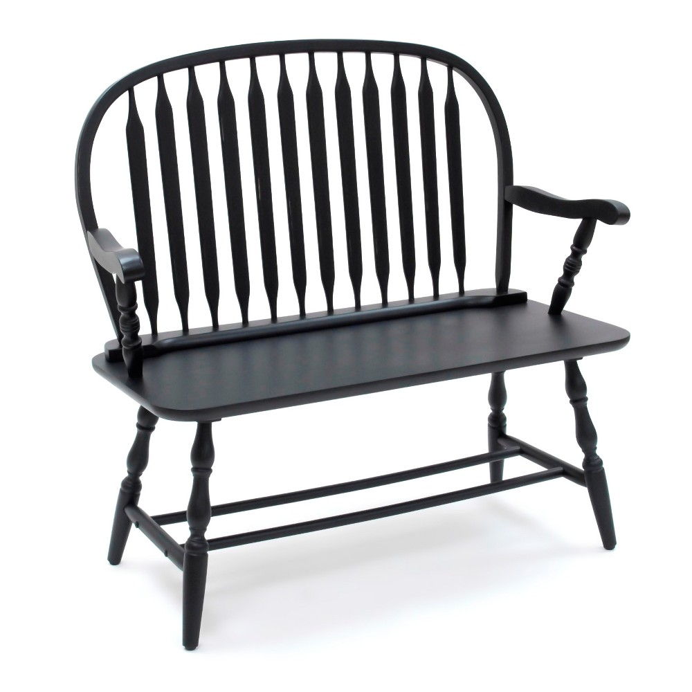 Mosley Windsor Bench - Antique Black - Carolina Chair and Table