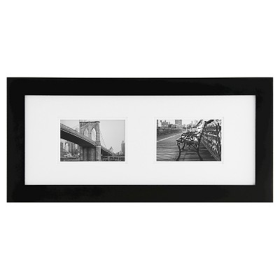 "2 Openings 4""x6"" Frame Black - Gallery Solutions"