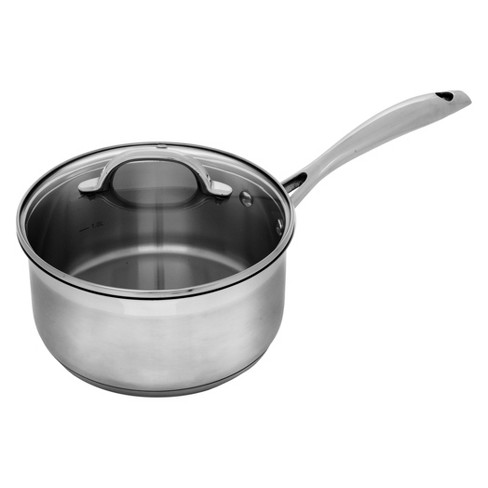 "Swiss Diamond 8"" Premium Stainless Steel Saucepan with Lid - image 1 of 3"