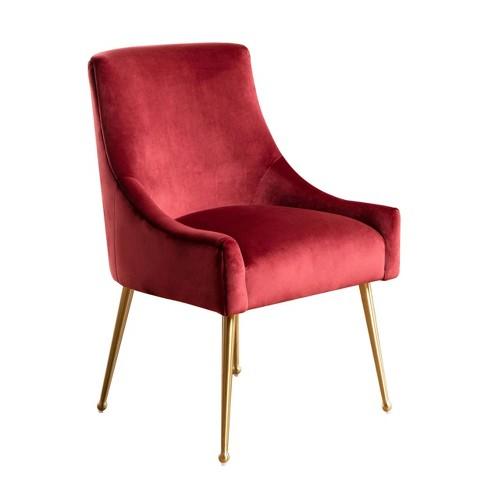 Incredible Beverly Velvet Dining Chair Burgundy Abbyson Living Ibusinesslaw Wood Chair Design Ideas Ibusinesslaworg