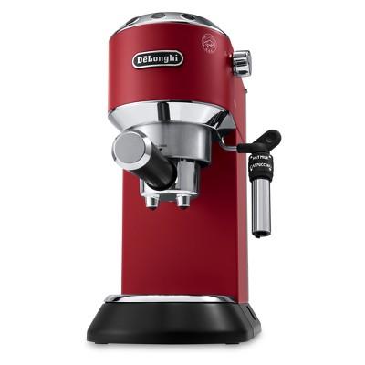 De'Longhi Dedica Deluxe Pump Espresso Machine with Premium Adjustable Frothing Wand - Red EC685R