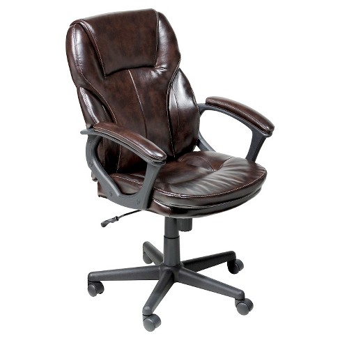 Manager's Chair Roasted Chestnut Brown - Serta - image 1 of 4