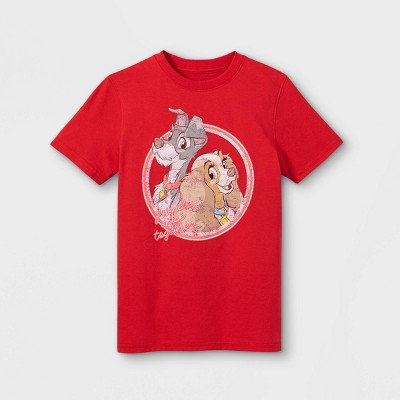 Kids' Disney Lady & The Tramp Short Sleeve Graphic T-Shirt - Red - Disney Store