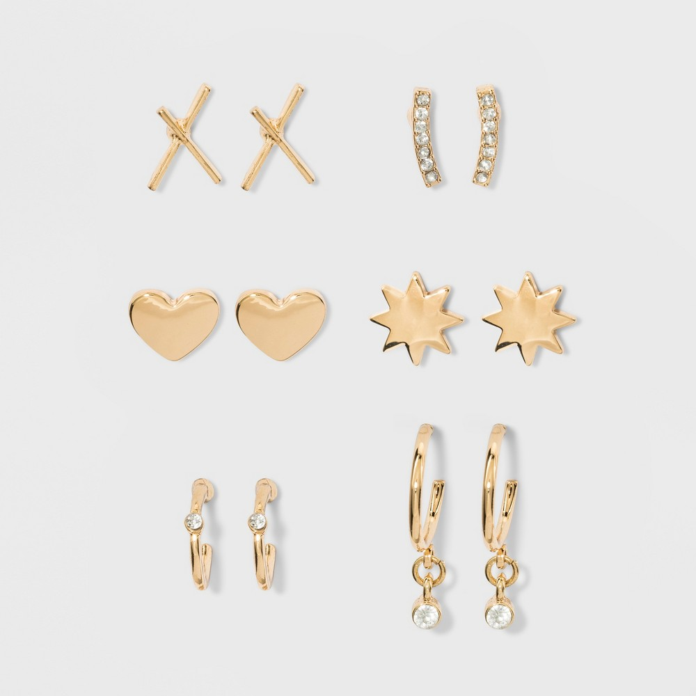 Sugarfix by BaubleBar Delicate Earring Gift Set - Gold, Girl's