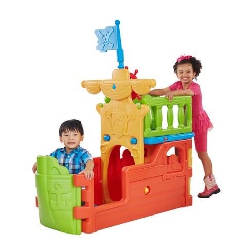 ECR4Kids Indoor/Outdoor Pirate Ship Plastic Boat Play Structure for Kids - image 1 of 4