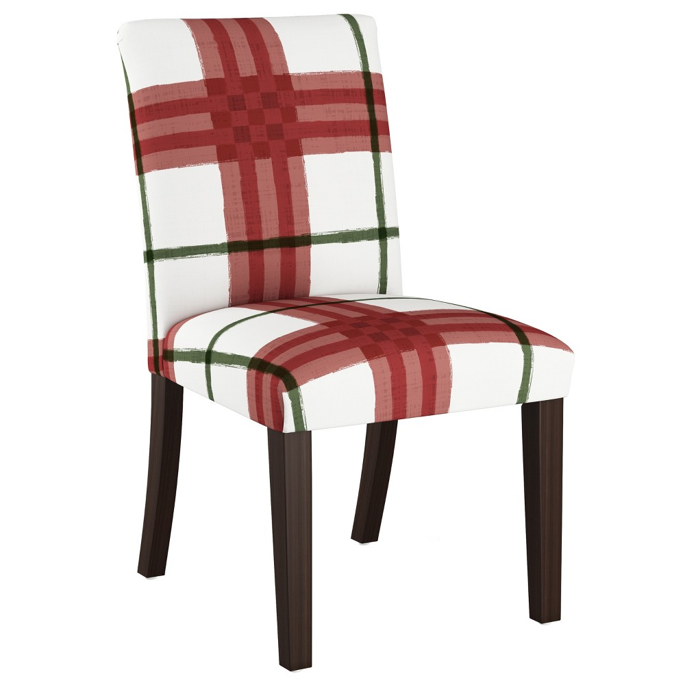 Dining Chair Brush Plaid Holiday - Skyline Furniture