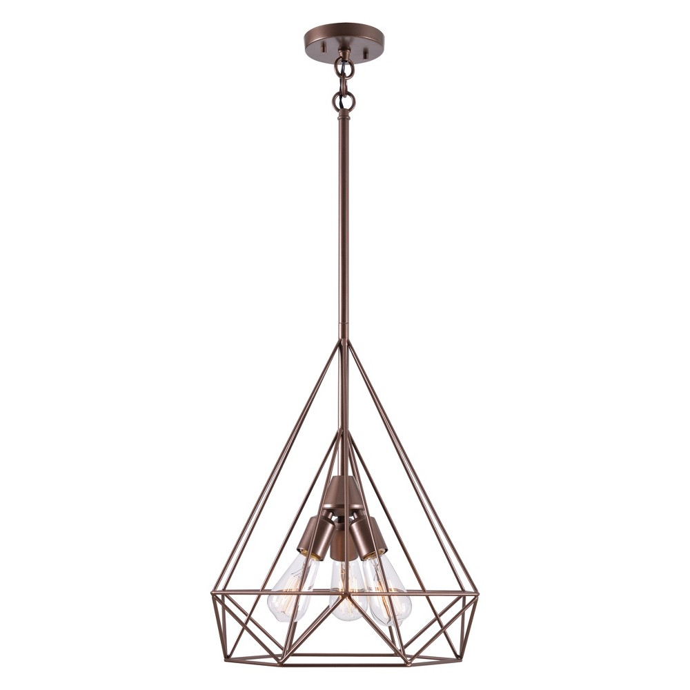 Pyramid 3 Light Pendant Copper (Brown) - Kenroy Home
