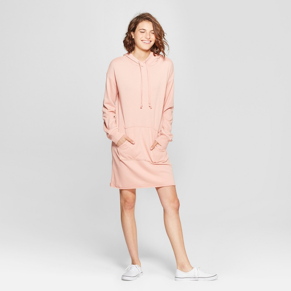Women's French Terry Hoodie Dress - Grayson Threads (Juniors') Rose XL, Pink