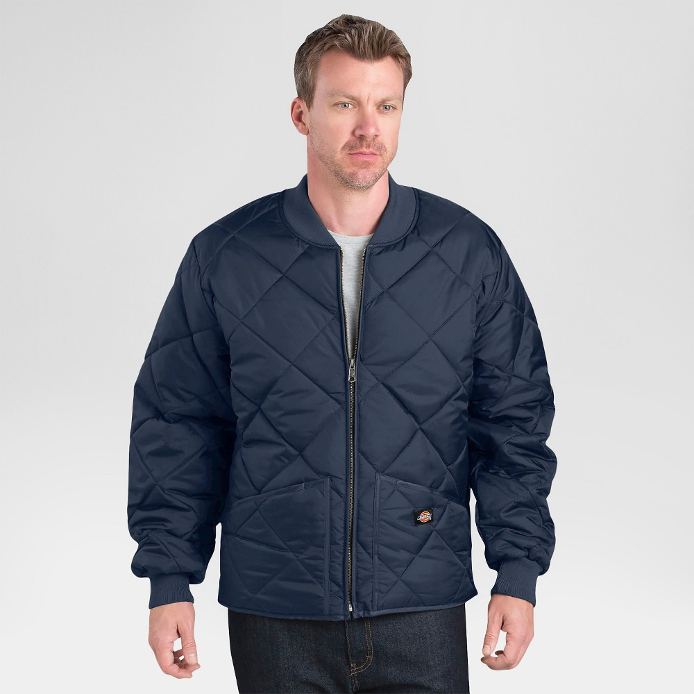 Image of Dickies Men's Diamond Quilted Nylon Jacket- Dark Navy L, Men's, Size: Large, Dark Blue