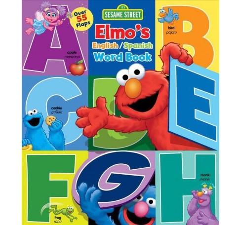 Elmo's English / Spanish Word Book -  (Sesame Street) by Lori C. Froeb (Hardcover) - image 1 of 1