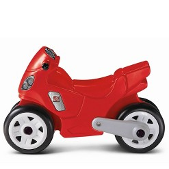 Step2 Toddler Child Manually Operated Motorcycle Tricycle Ride On Kid Toy, Red
