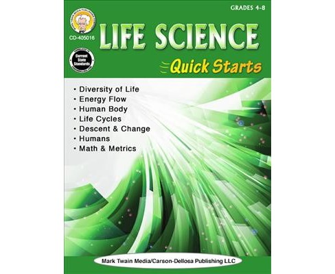 Life Science Quick Starts, Grades 4-8 (Paperback) (Gary Raham) - image 1 of 1