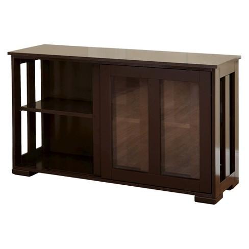 Pacific Stackable Sliding Glass Doors Cabinet Espresso Tms Target